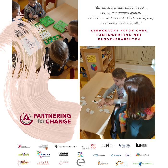 Partnering4Change – unieke samenwerking ergotherapeuten en leerkrachten