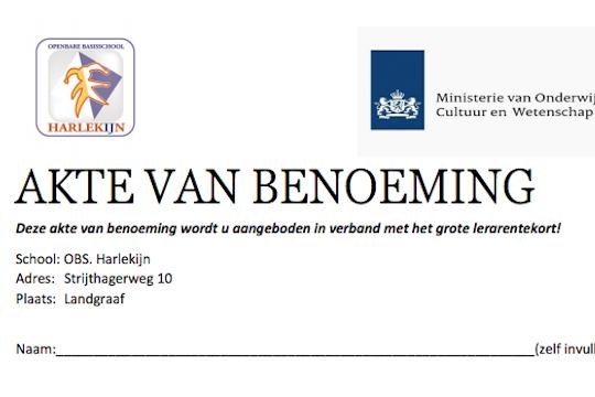 Ludieke stakingsactie van OBS Harlekijn